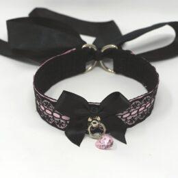 bdsm collars pink black